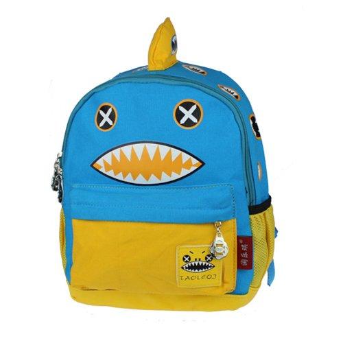 Deer Mum Children'S Backpack Cartoon Design Cute Schoolbag Kid'S Shoulder Bags (Blue) front-805379