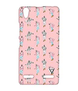 Vogueshell Dancing Pattern Printed Symmetry PRO Series Hard Back Case for Lenovo A6000