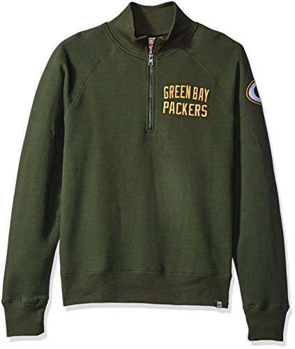 NFL Green Bay Packers Men's '47 Gamebreak 1/4-Zip Fleece Pullover, XX-Large, Varsity Green