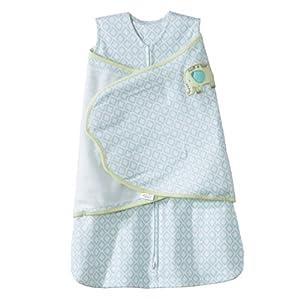 HALO 100% Cotton SleepSack Swaddle Blanket, Print Boy, Small