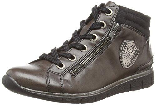 Remonte Dorndorf R4070, Sneaker alta donna, Grigio (Grau (graphit/altsilber/schwarz/graphit / 45)), 43