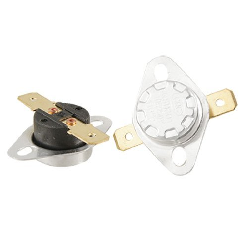 Sodial(R) 2 Pcs 110 Celsius N.C. Thermostat Temperature Controlled Switch Ksd301
