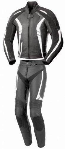 Büse Jerez Damen Lederkombi 2tlg., Farbe schwarz-grau-weiss, Größe D34
