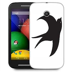 Snoogg Bird Vector Element Designer Protective Phone Back Case Cover For Motorola E / Moto E