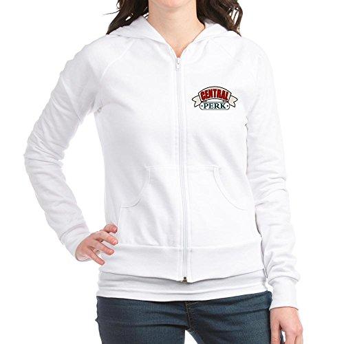 CafePress - Central Perk Fitted Hoodie - Juniors Hooded Sweatshirt, Zip Hoodie (Central Perk Jacket compare prices)
