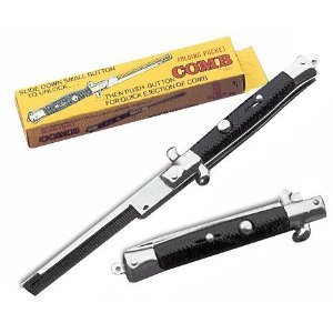 Set of 2 Stainless Steel Switch Blade Comb
