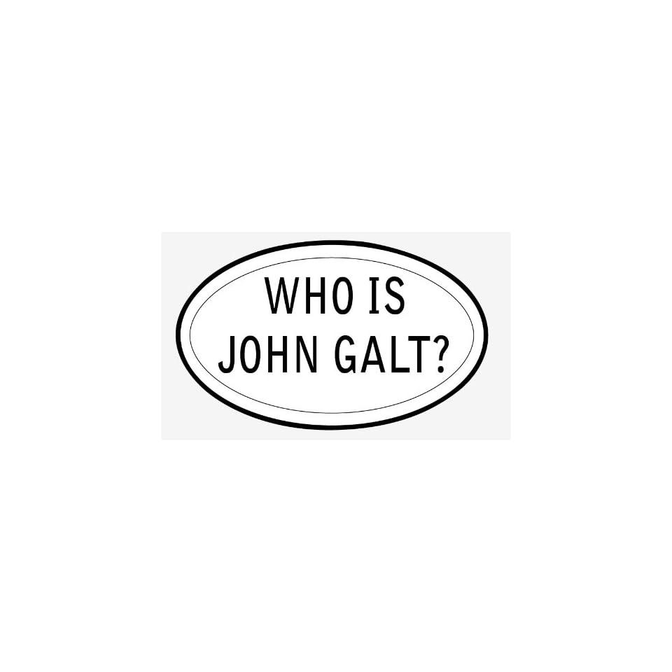 Who is john galt sticker vinyl decal 5 x 3
