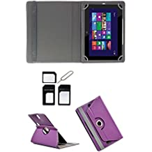 Hello Zone With Free Sim Adapter Kit HCL ME Connect 2G V1 360 Rotating 7 Inch Flip Case Cover Book Cover -Purple