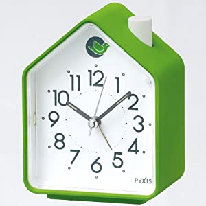 SEIKO CLOCK(セイコークロック) 鳥の鳴き声 アラーム音切替(鳥の鳴き声) アナログ目覚まし時計(緑) NR434M