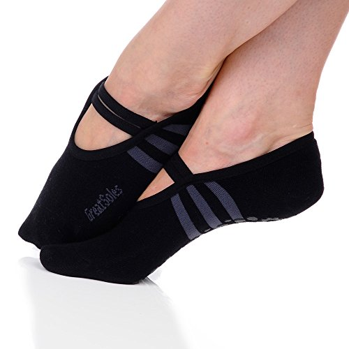 Great Soles Women's Ballet Sock One Size Black/Grey
