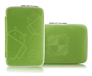 7 Inch Tablet Zip Sleeve Premium Cover Case Bag for Google Nexus 7, Amazon Kindle Fire, Nook Color and 16:9 Tablet (Green)