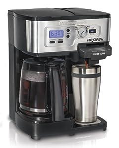 Hamilton Beach Single Serve Coffee Brewer and Full Pot Coffee Maker, FlexBrew (49983A)