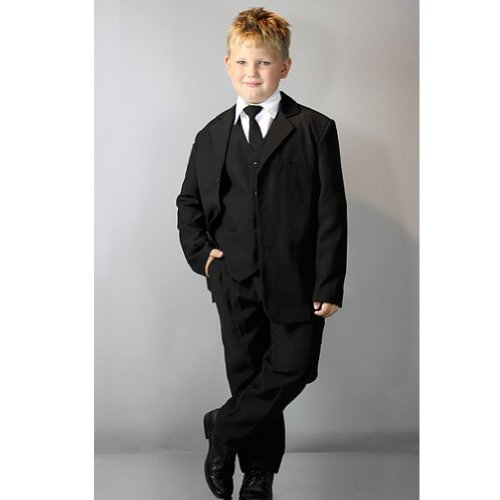 Classic Big Boys Suit In Black-Black/White-7 front-831833