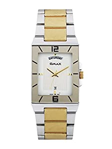 OMAX Men's Stainless Steel Casual Watch With Day And Date Feature White - SS394