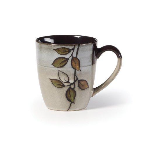 Pfaltzgraff Everyday Rustic Leaves Mug - Green|Gray|Gold