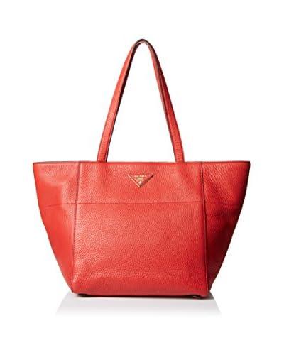 Prada Women's Calf Leather Tote, Rosso