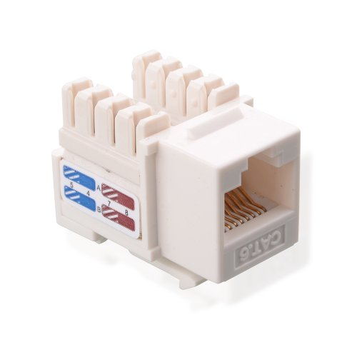 Cable Matters (25-Pack) Cat6 RJ45 Punch-Down Keystone Jacks in White