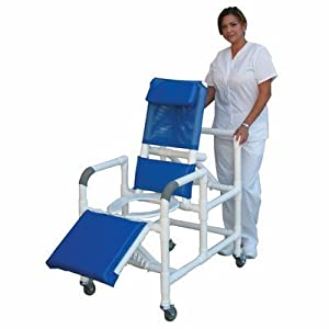 Reclining Shower Chair with Leg Extension Softer Seat: Yes