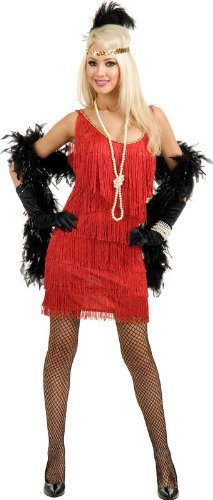 Fashion Flapper (Red) Adult Plus Costume Charades Costumes