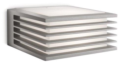 Philips Shades Lampada da Parete da Esterno, Alluminio Grigio, Lampadina RE 15 W Inclusa