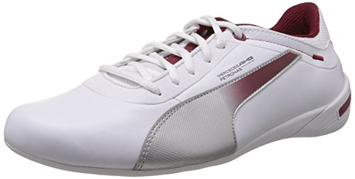 Puma-Mens-Touring-Cat-MAMGP-Grid-White-Puma-Silver-and-Biking-Red-Leather-Sneakers-10UKIndia-445EU