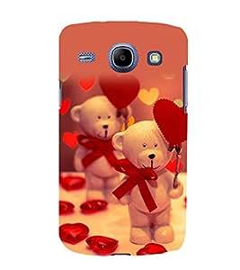 printtech Cute Teddy Heart Ribbon Back Case Cover for Samsung Galaxy E7 / Samsung Galaxy E7 E700F