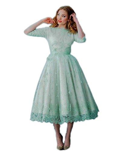 CoCoBridal Vintage Lace Prom Dresses Plus Size Backless Wedding ...