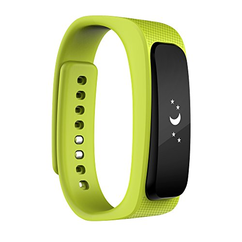 2016 neue Entwurfs-Universal-Bluetooth-Headset mit 0,91-Zoll-OLED-Multifunktions -Smart Watch abnehmbares Armband Fitness Tracker Funkkopfhörer für Apple iPhone 6/5S/5C/5, iPhone 4S/4, Samsung Galaxy S5/S4/S3, LG, PC Laptop, und anderen Bluetooth-Gerät ( grün)