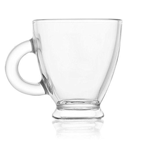 Reception 1618631 Roma Lot de 6 Tasses à Café Verre Transparent 21,5 x 17,5 x 8,5 cm