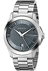 Gucci Men's YA126441 G-Timeless Stainless Steel Watch