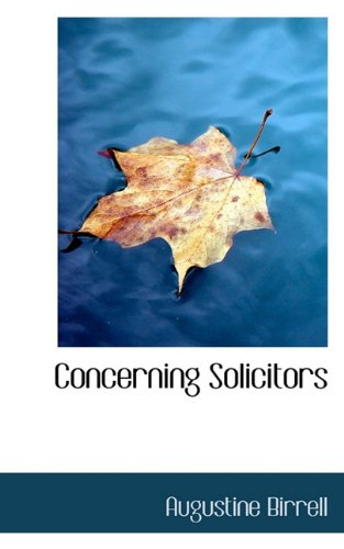 Concerning Solicitors