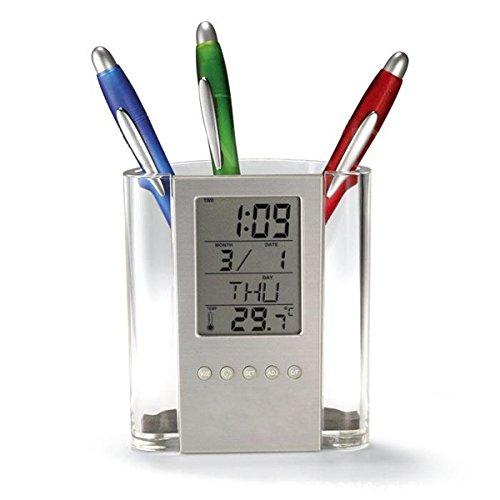 Fashion Outlet Fashion Durable Functional Electronic Large Screen Calendar Penholder Desk Organizer