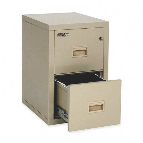 FireKing 2R1822CPA - Turtle 2-Drawer File, 17-3/4w x 22-1/8d, UL Listed 350 for Fire, Parchment