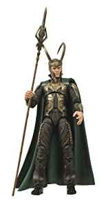 MARVEL SELECT Movie LOKI Action Figure with Connecting base