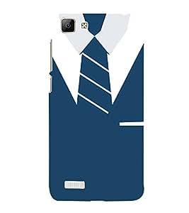 Shirt T-Shirt Tie Graphical 3D Hard Polycarbonate Designer Back Case Cover for VIVO V1