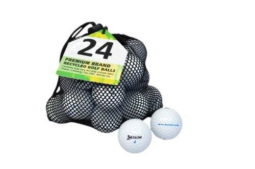 Second Chance Golfbälle 24 Srixon AD 333 Lake A-Qualität, weiß, PRE-24-MESH-SRI-AD