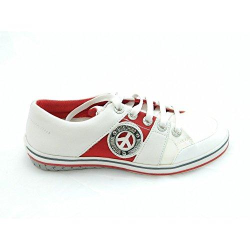 Moschino - Moschino scarpe sneakers bianco rosso Junior - Bianco, 38