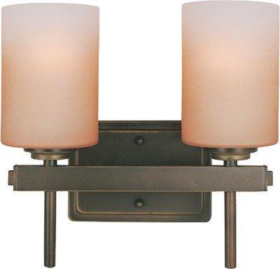 Lite Source LS-16702 Bess 2-Lite Wall Lamp, Dark Bronze with Amber Glass Shade