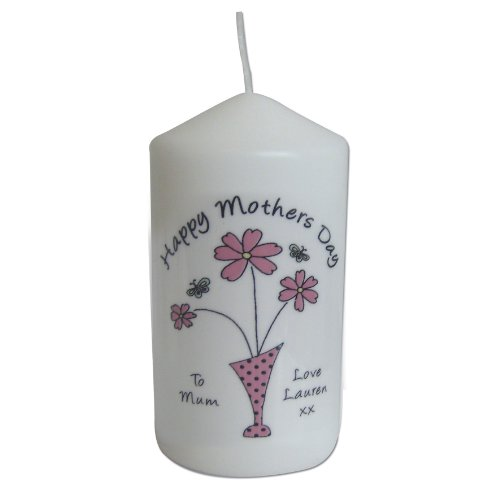 Flower in Vase Message Candle. This is a great product that can be personalised to your requirements ( please see main discription for full details ) Ideal gifts and presents for weddings, Christenings, Birthdays, Christmas etc...