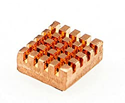 Self-Adhesive Pure Copper Heatsink For Raspberry Pi/It Is Made Of Pure Copper To Increase Heat Dissipation And Transfer For Your Machine Running Cooler In Summer./Collocation Fan, Better Performance