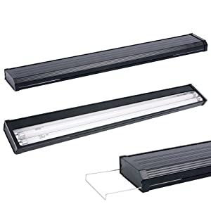 Aqueon AQE40200 T5 Dual Strip Lighting Hoods for Aquarium, 24-Inch