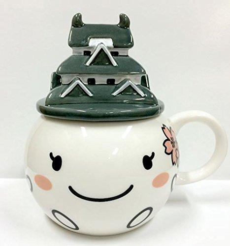 しろまるひめ[マグカップ]ふた付きマグカップゆるキャラ