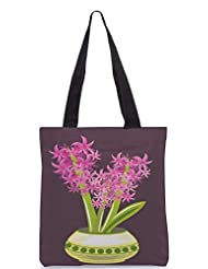 Snoogg Abstract Spring Illustration With Lots Of Flowers Designer Poly Canvas Tote Bag - B012FUOU0I