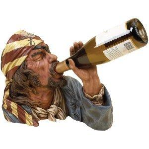 Pirate Wine Bottle Holder 12Wx11H
