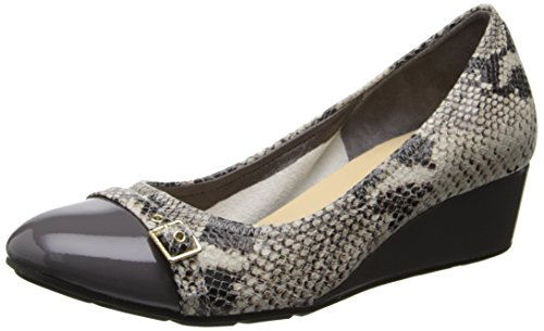Cole Haan Women's Tali Buckle Wedge Pump,Sahara Snake Roccia Print/Storm Cloud Patent,8.5 B US (Cole Haan Wedge Nike Air compare prices)