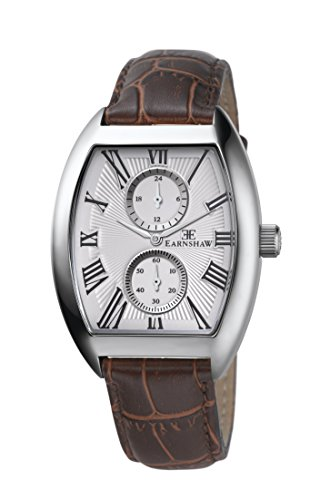 Thomas Earnshaw Holborn Multi Function Men's Quartz Watch with White Dial Analogue Display and Brown Leather Strap ES-8004-02