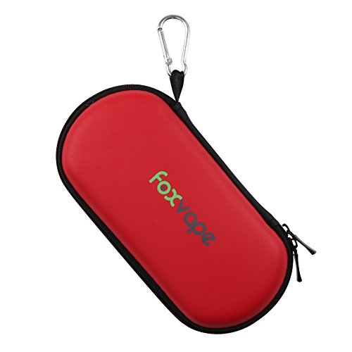 FOXVAPE Protective Carry Travel Storage Case Bag fit Ego Case,Vape Case, Vape Bag ,Vaporizers, Flavors, Batteries, Chargers, Headphones, Cables, Phones, Keys, Jewelry, Watches (Red) (Total Vapor Twist compare prices)