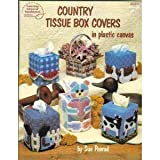img - for Country Tissue Box Covers in Plastic Canvas - American School of Needlework - #3051 - By Sue Penrod book / textbook / text book