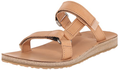 teva-woman-original-universal-slide-leather-sandals-white-hellbraun-39-eu