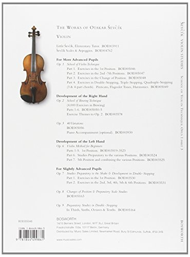 Sevcik Violin Studies